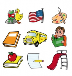 school themes vector image