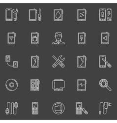Smart phone repair icons vector