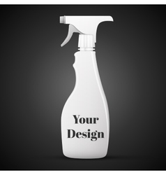 Spray Pistol Cleaner Plastic Round Bottle White vector image
