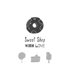 Sweet shop logo template vector
