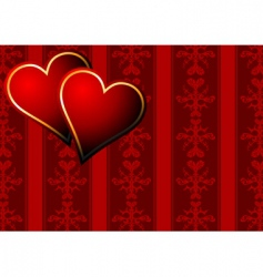 vintage hearts wallpaper vector image