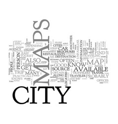 Where to find city maps text word cloud concept vector