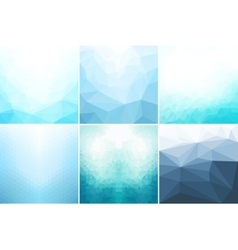 Blue abstract geometric backgrounds vector