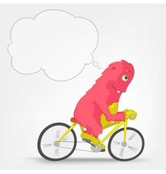 Funny monster biker vector