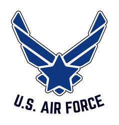 Us air force vintage t-shirt stamp vector