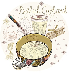 Boiled custard vector