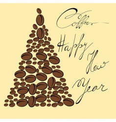 greeting card with coffee bean vector image