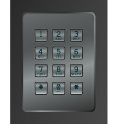 Digital dial of security lock vector