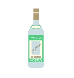 Stylized bottle of russian vodka vector