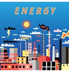 Industry power background vector