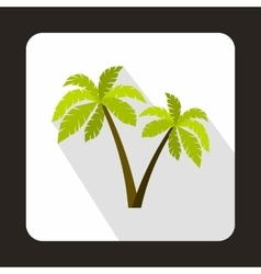 Two palms icon in flat style vector