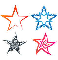A set of five-pointed stars vector