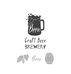 brewery logo template vector image vector image