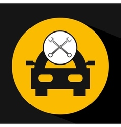 Car concept support tool icon graphic vector
