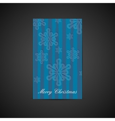 Christmas holiday postcard with snowflake vector image