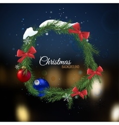 Christmas tree Garland vector image vector image
