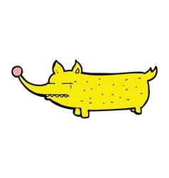 Comic cartoon funny little dog vector