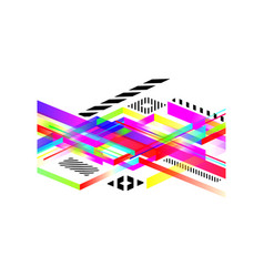corporate futuristic design abstract geometric vector image vector image