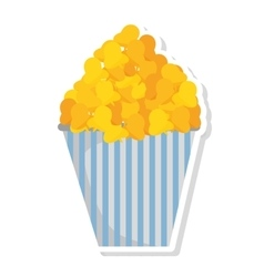 Delicious pop corn isolated icon vector