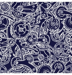 Engineers sketch seamless pattern vector image vector image
