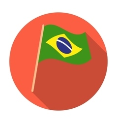 Flag of brazil icon in flat style isolated on vector