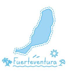 fuerteventura island map isolated cartography vector image vector image