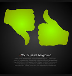 Good bad hand vector