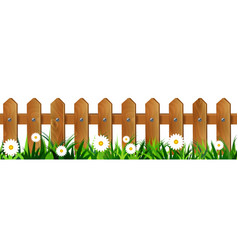 Green grass seamless fence vector