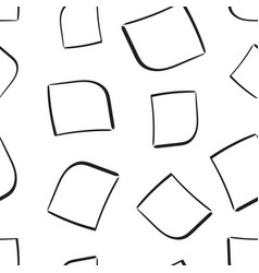 hand drawn squares frame box seamless pattern vector image