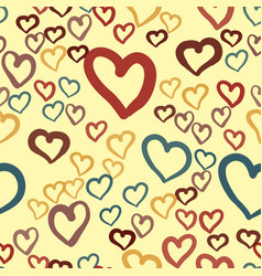 hearts seamless valentines day background vector image