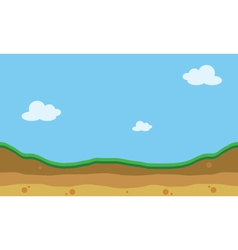 Hill landscape of silhouette for game backgroun vector
