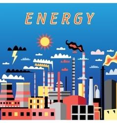 Industry power background vector