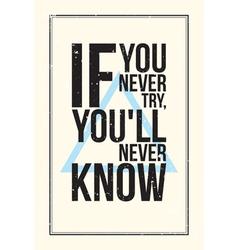 Inspiration motivation poster Grunge style vector image