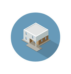 isometric modern architecture building vector image vector image
