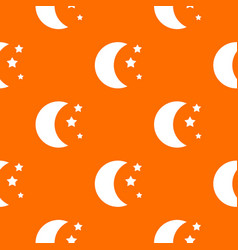 Moon and stars pattern seamless vector
