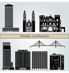Omaha landmarks and monuments vector image