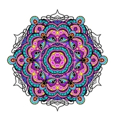 Ornament beautiful background with mandala vector image