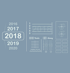 plan the sheet goals and plans for the year vector image vector image