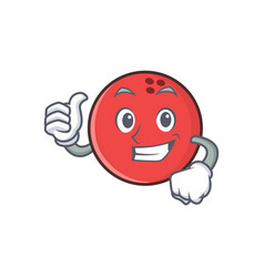 Proud bowling ball character cartoon vector