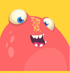 red monster face avatar vector image vector image