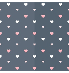 Seamless pattern with white and pink hearts on a vector image vector image