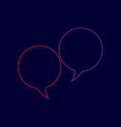 Speech bubble sign line icon with vector