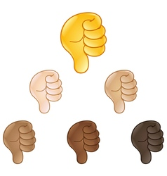 Thumbs down hand sign emoji vector