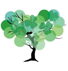 Tree color green shamrock vector