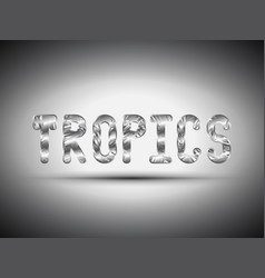 Tropical metal lettering with shadow vector