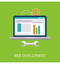 Web Development Concept Art vector image vector image