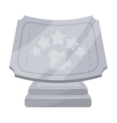 Silver prize with star and camera on a stand vector