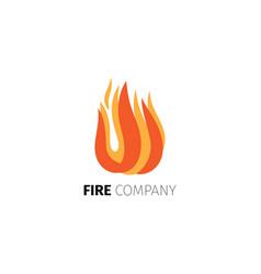 Fire flame company logo template vector