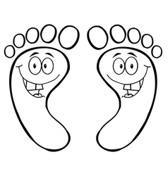 Cartoon feet vector