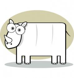 square animal  rhino vector image